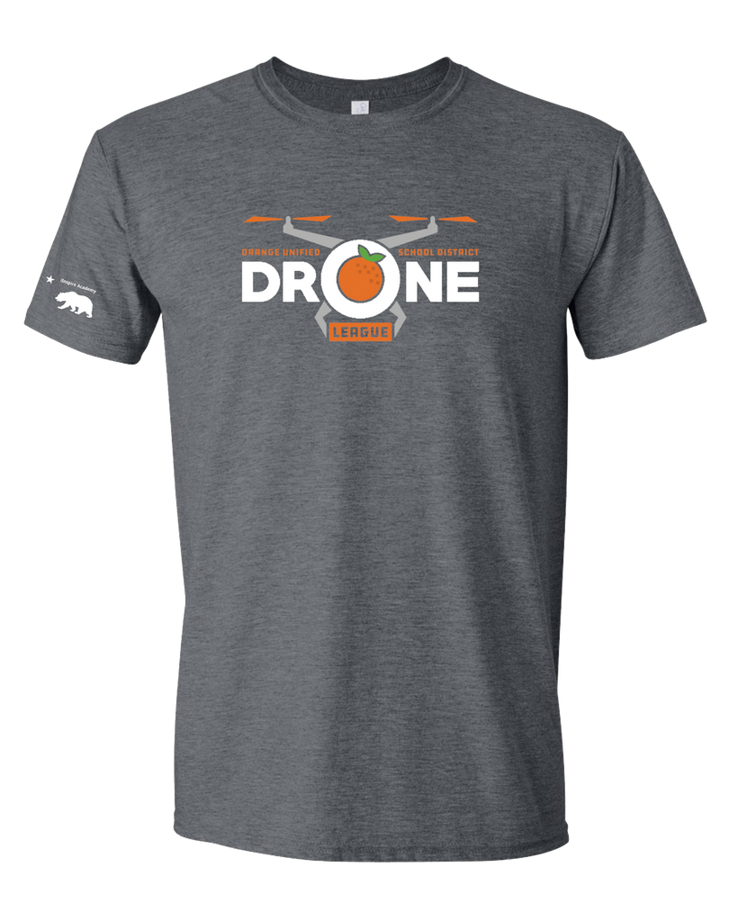 California Elementary - Drone league T-shirt (Dark Heather)