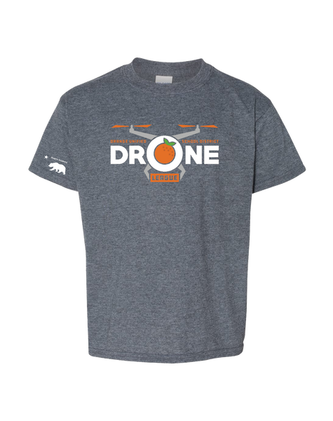 California Elementary - Drone league Youth T-shirt (Dark Heather)