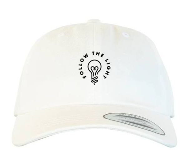 Follow The Light - Dad Hat (White)