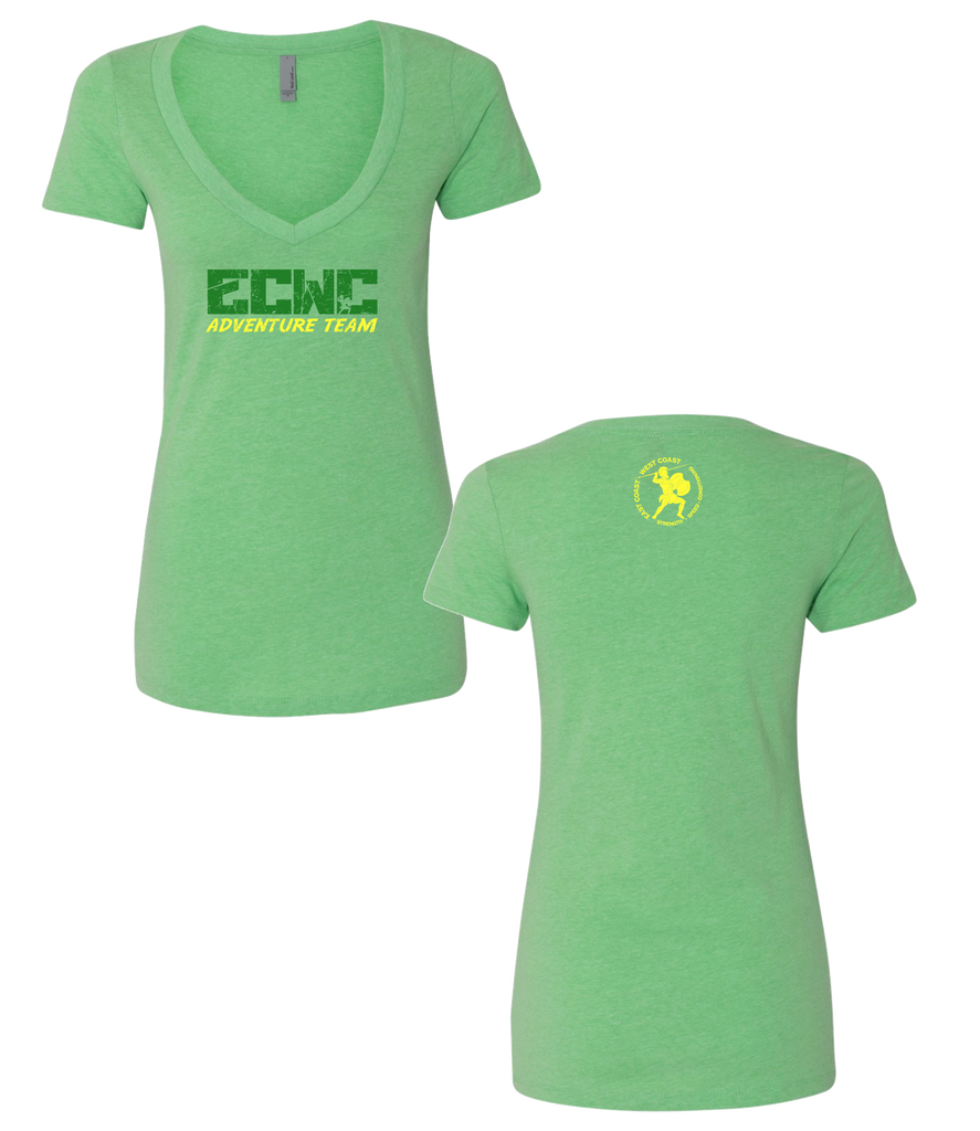 Women ECWC Adventure Team V-neck (Apple Green)