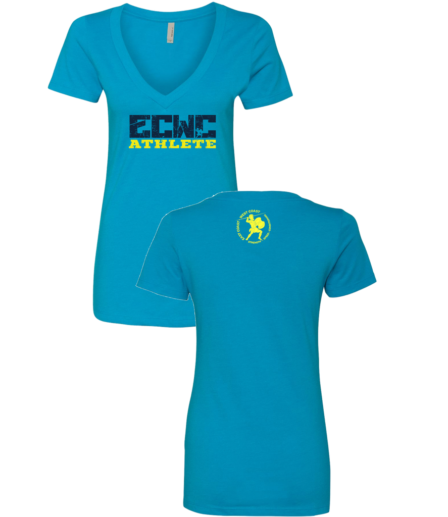 Womens ECWC Athlete V-neck (Turquoise)