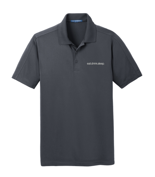 EDS - Port Authority® Diamond Jacquard Polo (Graphite)