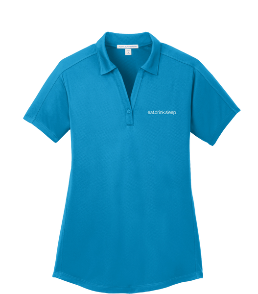 EDS - Port Authority® Ladies Diamond Jacquard Polo (BlueWake)