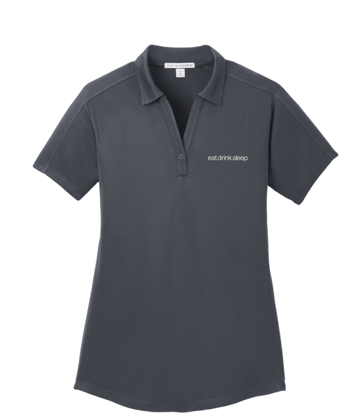 EDS - Port Authority® Ladies Diamond Jacquard Polo (Graphite)