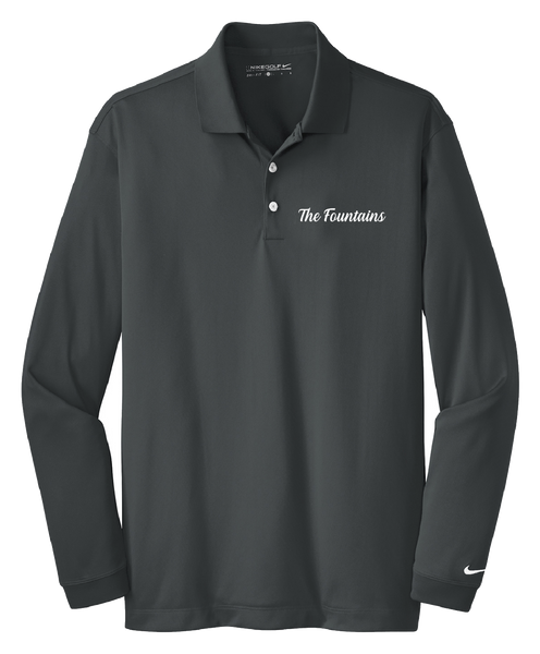 Fountains - Mens - Nike Long Sleeve Dri-FIT Stretch Tech Polo