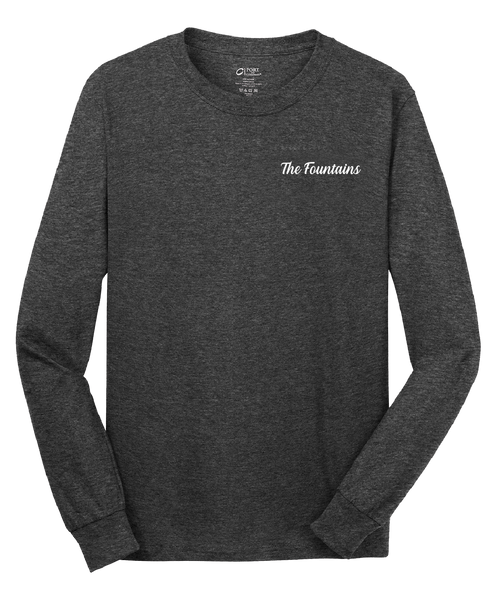 Fountains - Mens - Port & Company® - Long Sleeve Core Cotton Tee