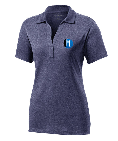 J&H - *New Logo - Womens Polo (True Navy Heather)