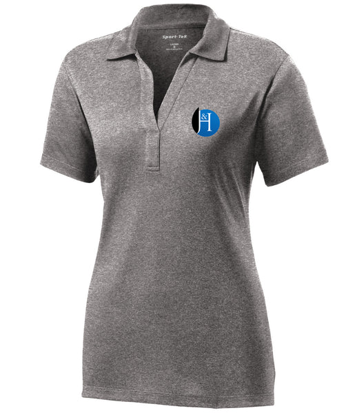 J&H - *New Logo - Womens Polo (Vintage Heather)