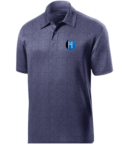 J&H - *New Logo Mens Polo (True Navy Heather)