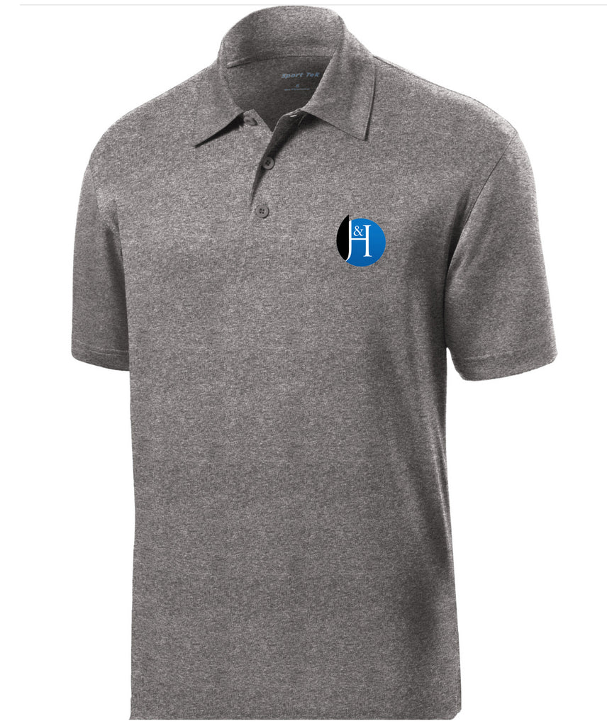 J&H - *New Logo Mens Polo (Vintage Heather)