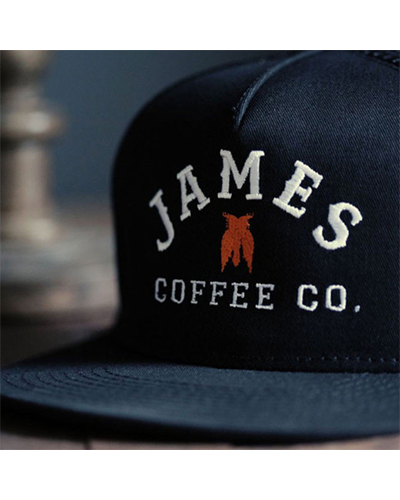James Coffee - Black Logo Trucker