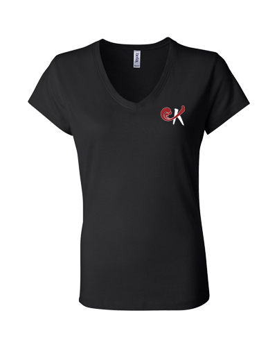 Kokis - Girls V-Neck Logo Tee (Black)