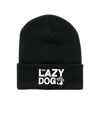 Lazy Dog - Text Beanie