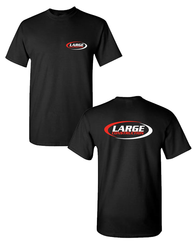 Large Construction - LIGHTWEIGHT Men's Tee (Black)