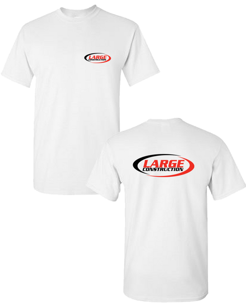 Large Construction - LIGHTWEIGHT Men's Tee (White)