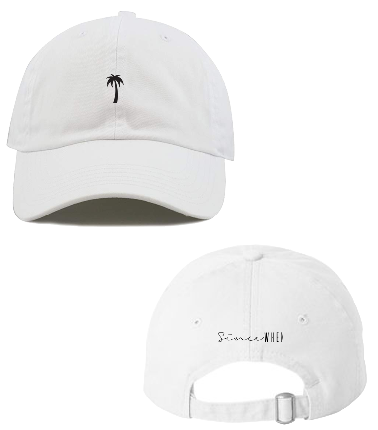 MIKEN - *Embroidered Dad Hat (White)