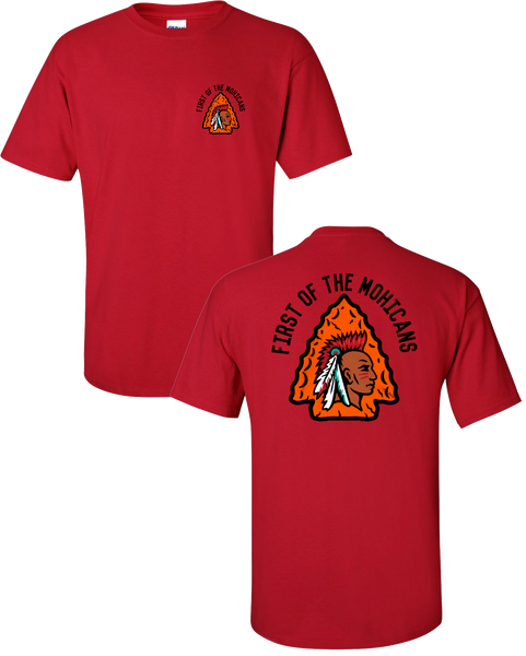 Mohican Tribe - Adult Red Shirt (6 color)