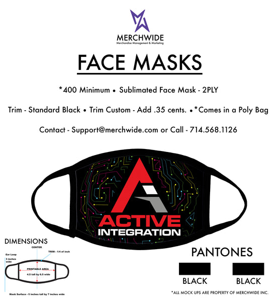 Active Integration - Sublimated FaceMask - Full Color