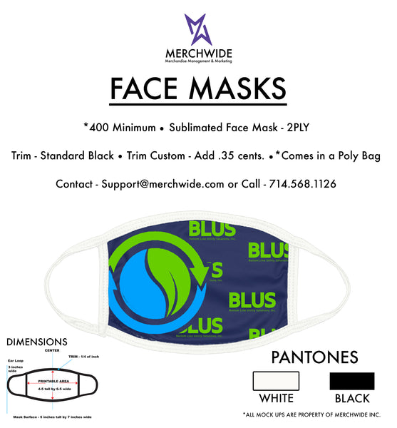 BLUS Sublimated FaceMask - Full Color