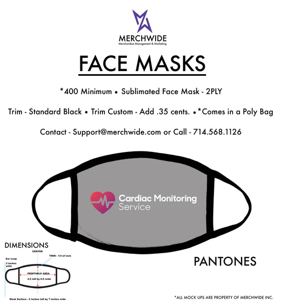 CMS - Sublimated FaceMask - Full Color V4