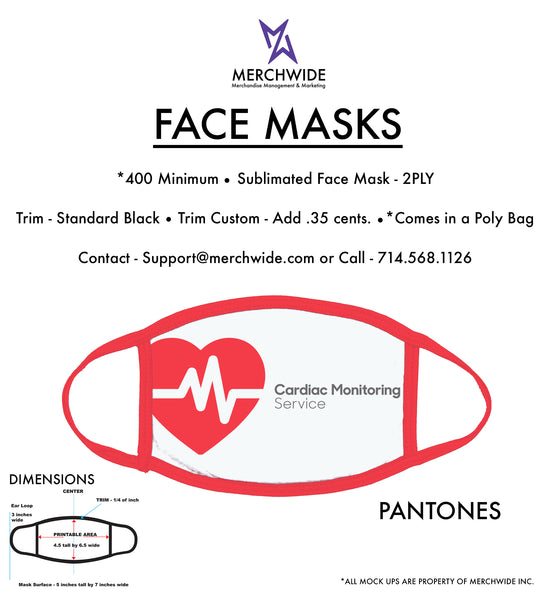 CMS - Sublimated FaceMask - Full Color