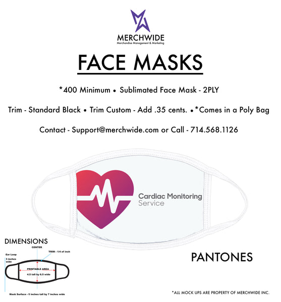CMS - Sublimated FaceMask - Full Color V3
