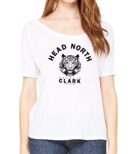 NATALIECLARK - WHITE 'HEAD NORTH' SLOUCHY T