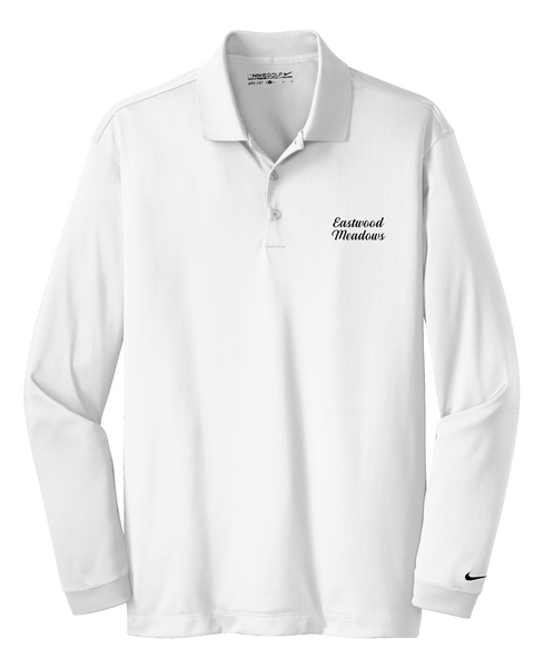 Eastwood Meadows - Mens - Nike Long Sleeve Dri-FIT Stretch Tech Polo