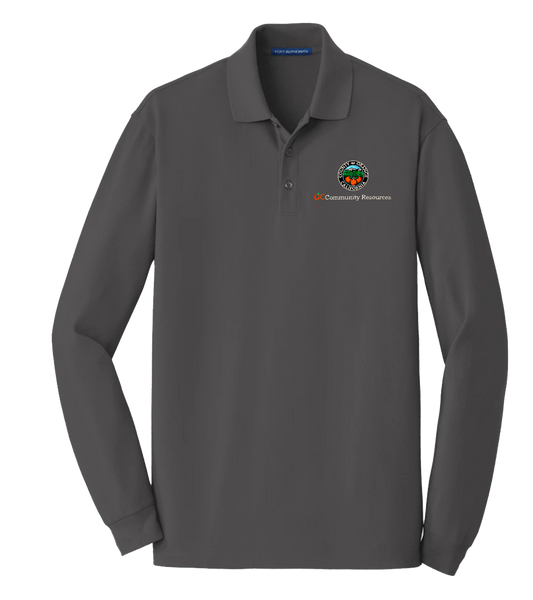 Mens Port Authority® EZCotton™ Long Sleeve Polo
