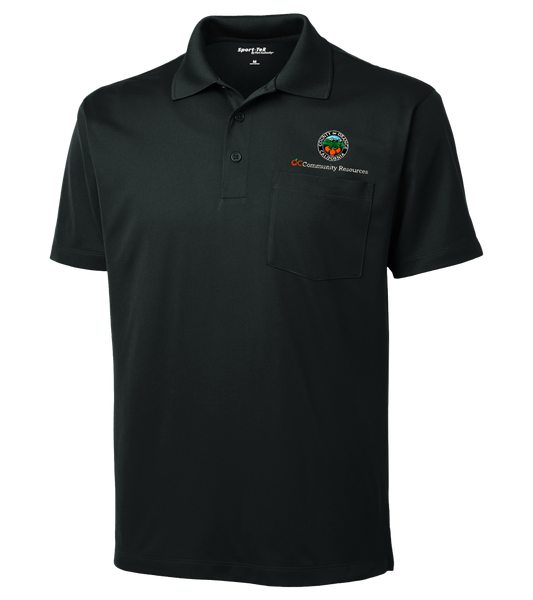 Mens Sport-Tek® Micropique Sport-Wick® Pocket Polo