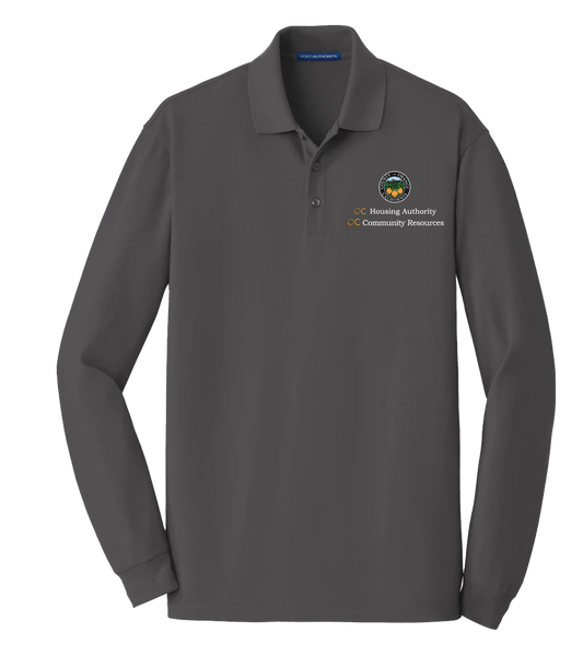 Mens Port Authority® EZCotton™ Long Sleeve Polo (OCHA)