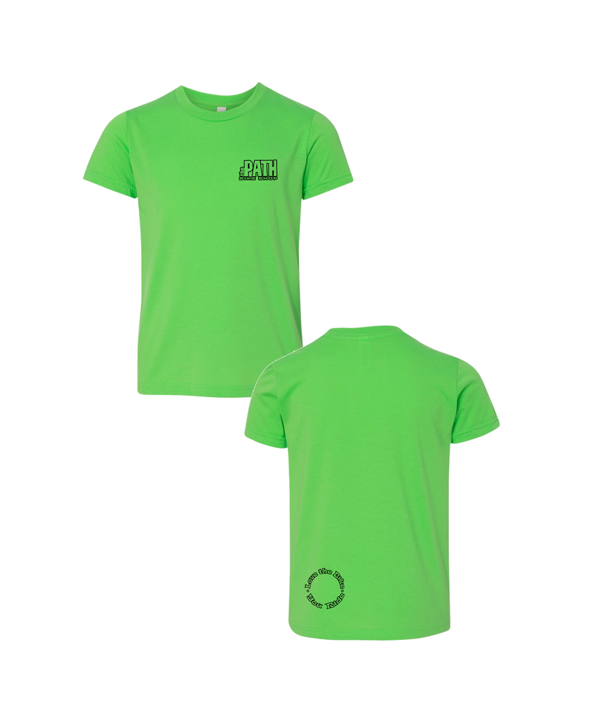 The Path - Logo Tee Youth (NEON GREEN) 3001Y
