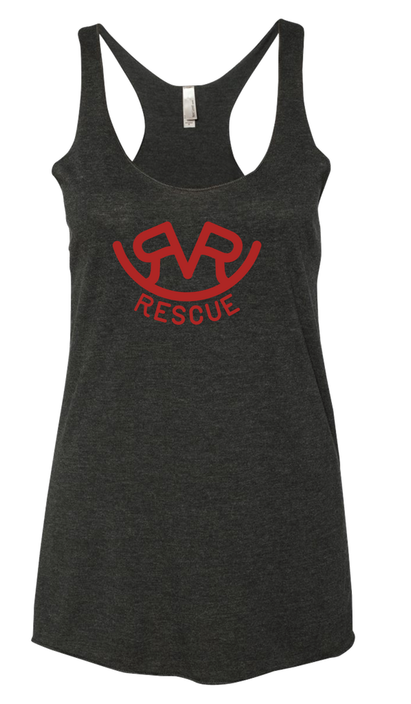 Hitch'n Post - Womens Ranch Rescue Logo Tank (Vintage Black)