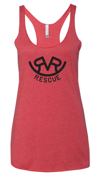 Hitch'n Post - Womens Ranch Rescue Logo Tank (Vintage Red)
