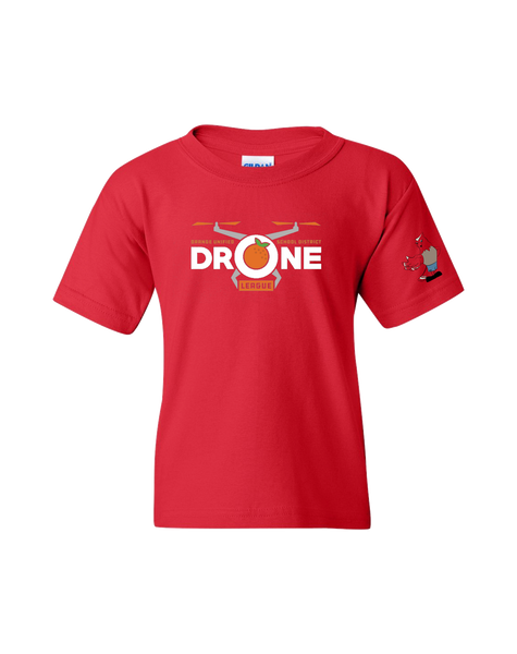 Running Springs - Drone league Youth T-shirt (Red)