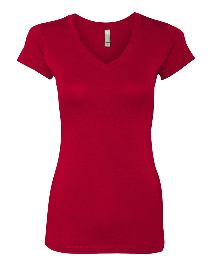 Smoqued - Womens Flag V-Neck (RED)