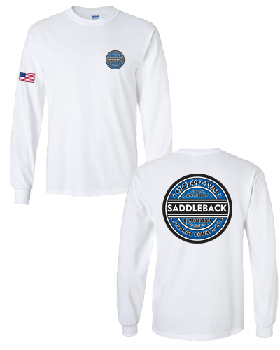 Saddleback Demo- (White) Gildan Longsleeve
