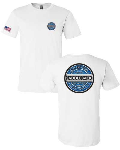 Saddleback Demo- Tee shirt (White) Bella 3001