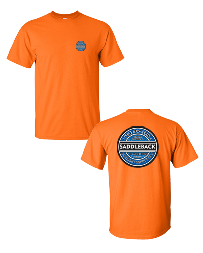 Saddleback Demo- Tee shirt (Orange) Hanes Beefy Tee