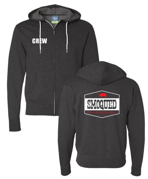 Smoqued - CREW Zip Hoodie (Charcoal Heather)