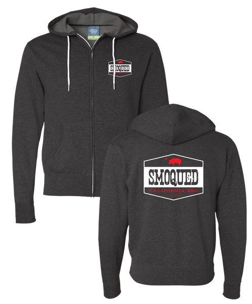 Smoqued - Zip Hoodie (Charcoal Heather)