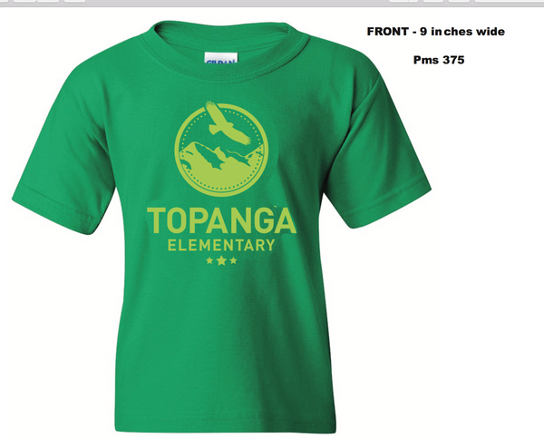 TOPANGA - Kelly Green Youth Shirt - 1 color