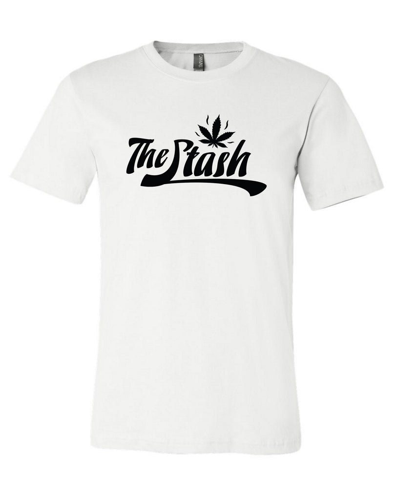 Stash - Black Logo Tee (White)