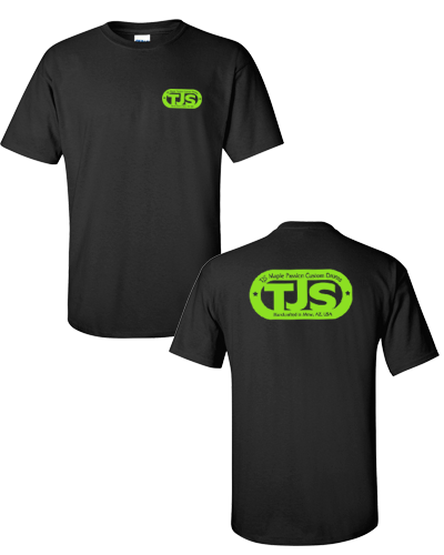 TJS - Black Tee (Green Ink)