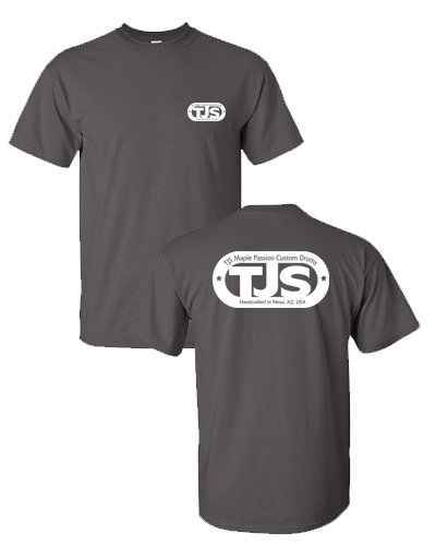TJS - Charcoal Tee (White Ink)