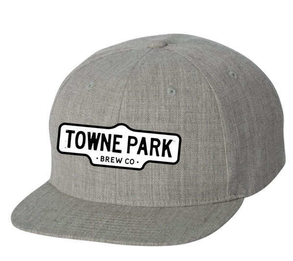 Towne Park - Sign Logo Snapback (Grey)