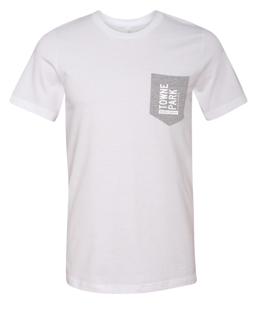 Towne Park - Pocket Tee (White/Grey)