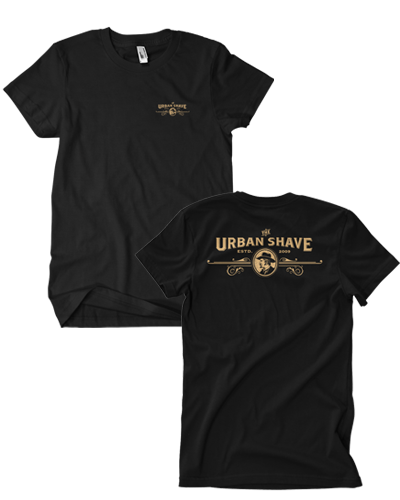 Urban Shave - Front and Back Full Logo Tee (Black)