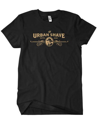 Urban Shave - Front Full Logo Tee (Black)