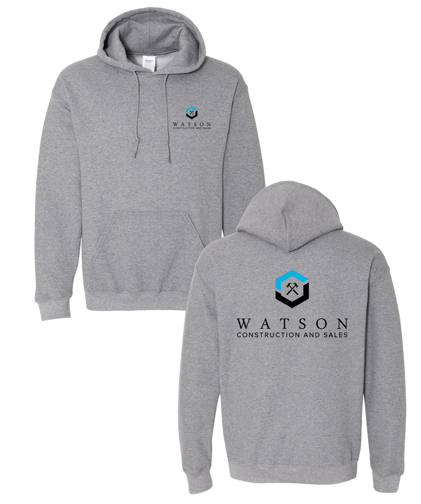 Watson Construction - Hooded Pull Over (Premium Heather)